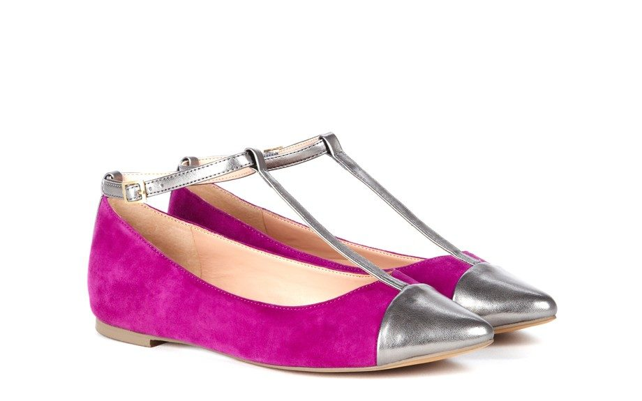 """For a chic and sophisticated look: Addy T-Strap Flat, $60, <a href=""""http://www.solesociety.com/addy-hot-coral-frappe.html"""">solesociety.com</a>"""