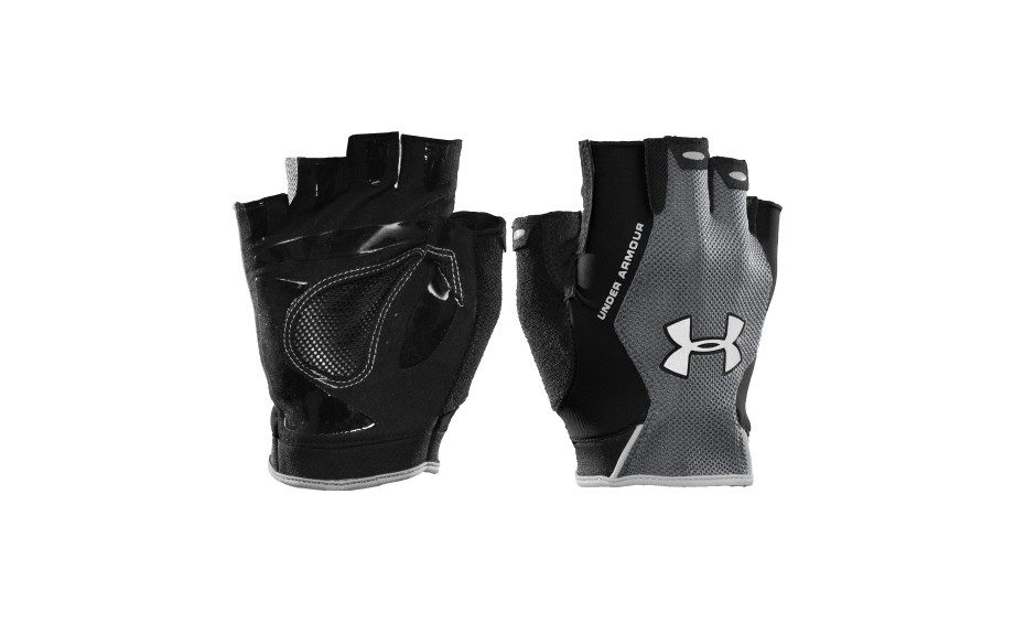 "Protect your hands from injury and calluses with these sleek pair of workout gloves from <a href=""http://www.dickssportinggoods.com/product/index.jsp?productId=24537406&locale=en_US&clickid=prod_cs&recid=Product_PageElement_product_rr_1_693"" target=""_blank"">Under Armour</a>.</p"