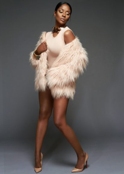 <p> Bodysuit by Vintage,Accessories by Lariucci, Nude Mohair Jacket by TopShop, Nude Pump by Christian Louboutin</p>