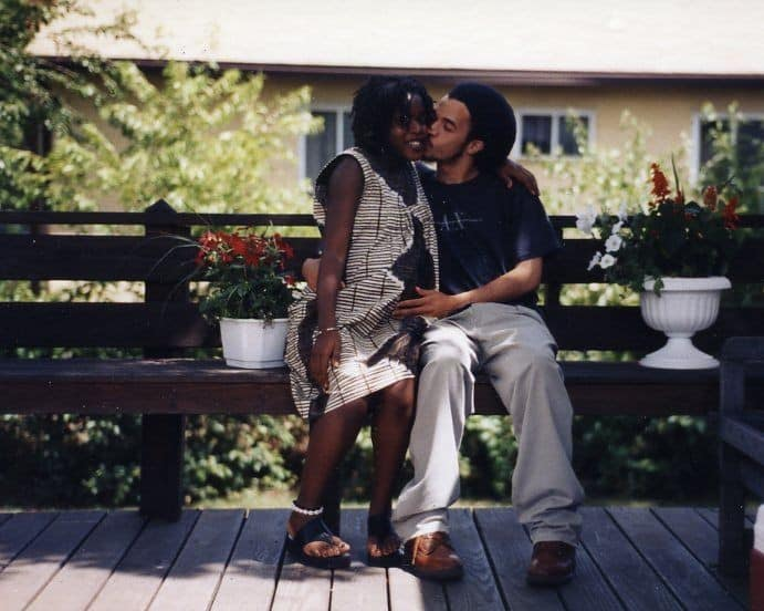 Howard Buford was born on Long Island with Southern roots. Delphine Fawundu is a Brooklyn girl by way of Sierra Leone. Here, she's pregnant with their first child, Amal.
