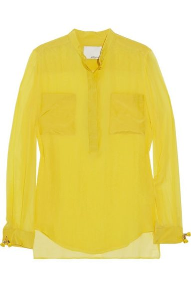 Phillip Lim Electric Yellow Blouse, $350 at Net-a-porter.com