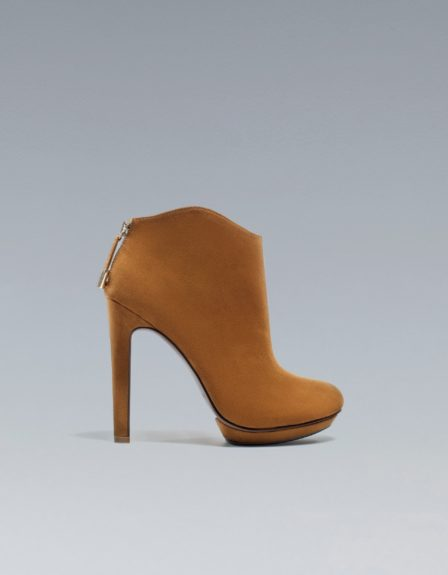 Ankle Boot: $69 at Zara.com. Loving this taupe ankle bootie from Zara. This goes great with a form fitted dress and can take you from day to night.