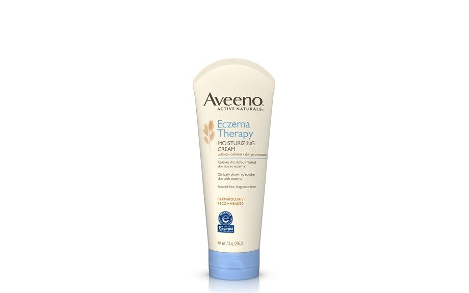 "Its fragrance-free oatmeal formula will leave you free from breakouts as well, $12.79, <a href=""http://www.walgreens.com/store/c/aveeno-active-naturals-eczema-therapy-moisturizing-cream/ID=prod6030816-product"">www.walgreens.com</a>."