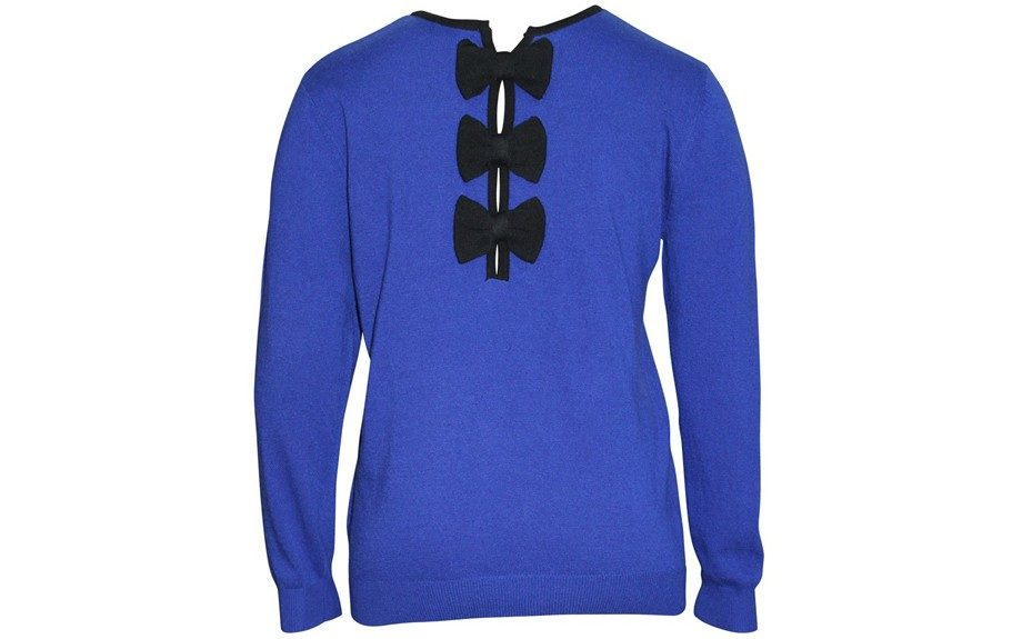 The Sweater: Blue Cashmere Sweater (€79.50, www.JeanMarcPhilippe.com)