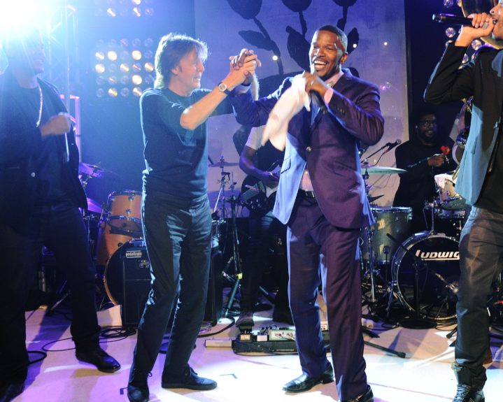 Paul McCartney joins Jamie Foxx at the fifth annual Apollo in the Hamptons fundraiser