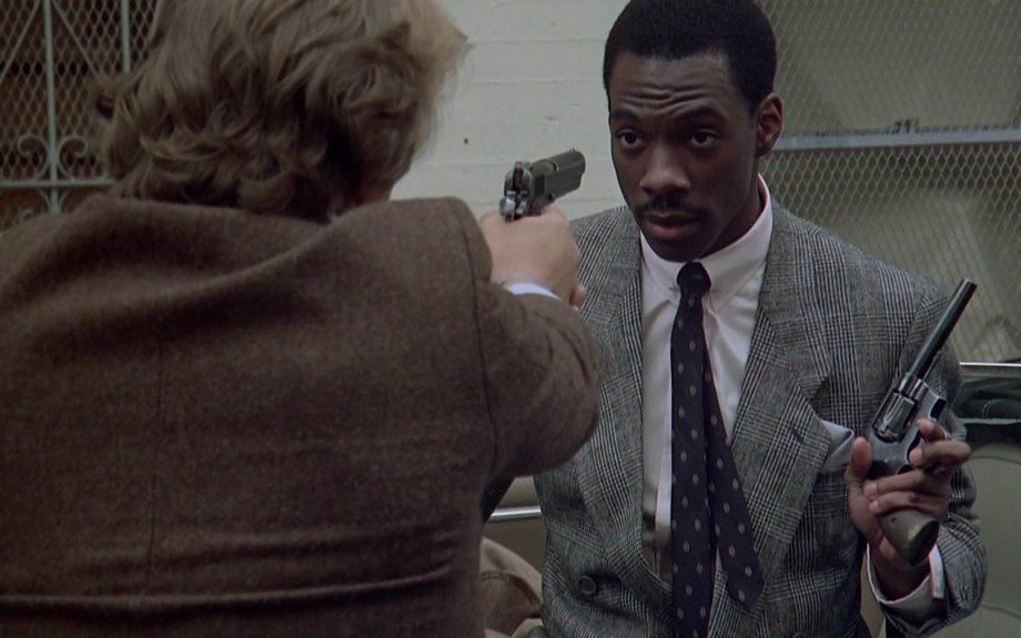 """Often credited as the first """"buddy cop"""" movie, <em>48 Hrs. </em>(1982) and the 1990 sequel starred Eddie Murphy, making his film debut as former police Officer Reggie Hammond."""