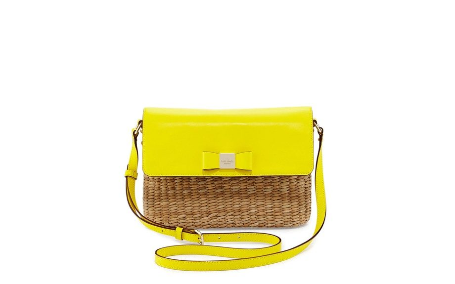 This Kate Spade Vita Limoni Clara Straw Shoulder Bag is the perfect combo for summer. Neon, raffia and small, $156.