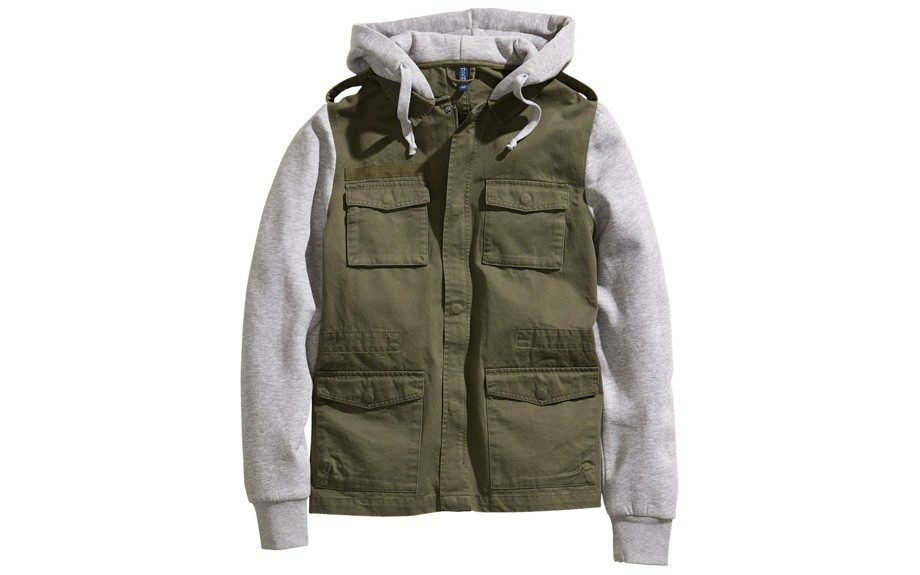"""<strong>For the Casual Guy</strong>  H&M Jacket with Sweatshirt Hood ($50,<a href=""""http://www.hm.com/us/product/13561?article=13561-A"""" target=""""_blank"""">hm.com</a>)"""