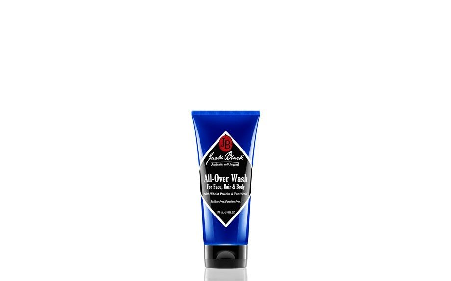 """Jack Black All Over Wash ($15.00, 6 oz.,<a href=""""http://www.getjackblack.com/Products/All-Over-Wash-for-Face--Hair-and-Body-with-Wheat-Protein-and-Panthenol__4007O.aspx"""" target=""""_blank"""">jackblack.com</a>) <div> </div>"""