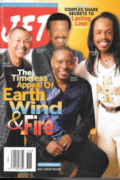 <p> 	Earth, Wind, and Fire on the March 13, 2006 cover of <em>JET</em> Magazine</p>