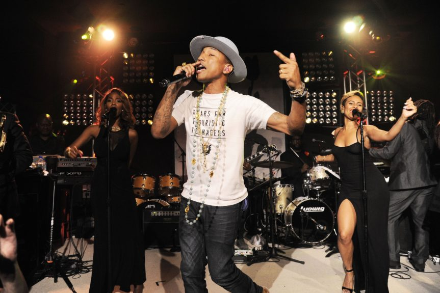 Pharrell rocks the spot at the fifth annual Apollo in the Hamptons fundraiser