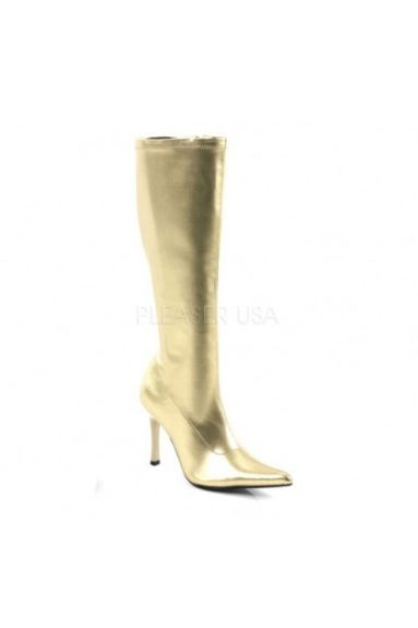 "<font size=""2""><span style=""font-size:10pt;"">Who says you can't go bold in inclement weather?<br /> 	Ami Clubwear Gold Metallic Faux Leather Boots ($59.99; payless.com)</span></font>"