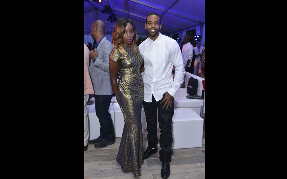 <span><span><span><span>Estelle poses with Mario during gala</span></span></span></span>