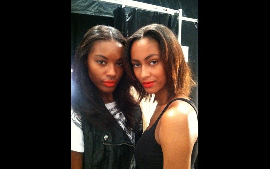 Beautifully Brown models backstage at Nanette Lepore, who showed so much love to the Black girls.
