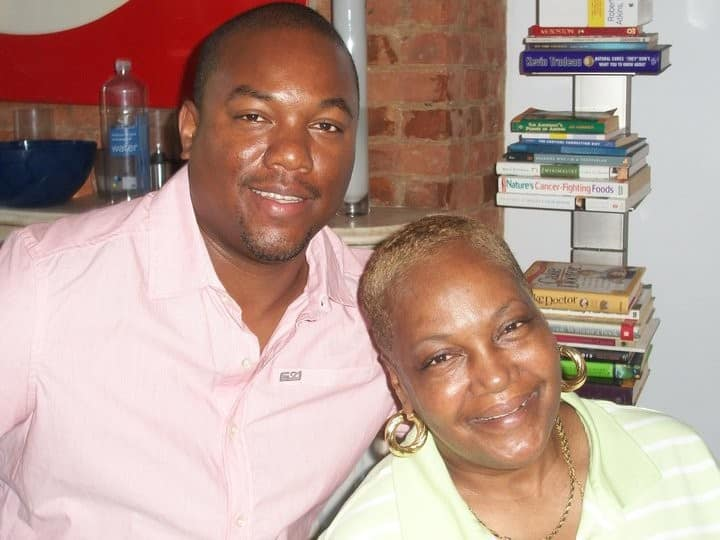 """T-Mor and his mom. """"Marriage doesn't really run in my family. My mother and stepfather went on a date when I was 7; he spent the night that night and never left. They're still together and they just got married like five years ago."""""""