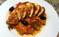 [RECIPE]Stuffed Southwest Chicken and Spanish Rice