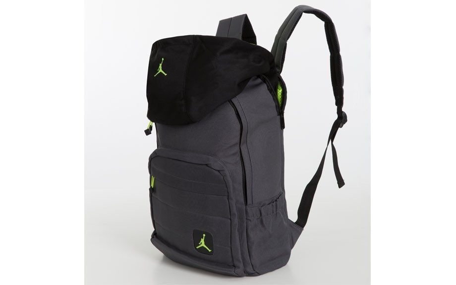 """Jordan backpack with attached hoodie Price: $65 <a href=""""http://www.drjays.com/"""">www.drjays.com</a>"""