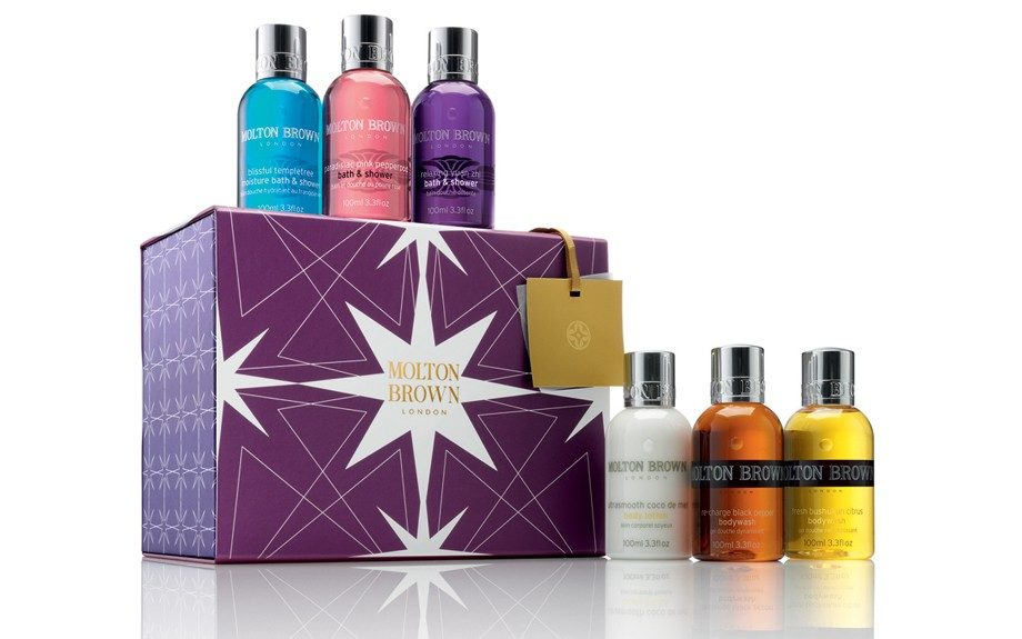 The both of you can enjoy theMoltonBrownAludraGift Set ($50; saksfifthavenue.com)