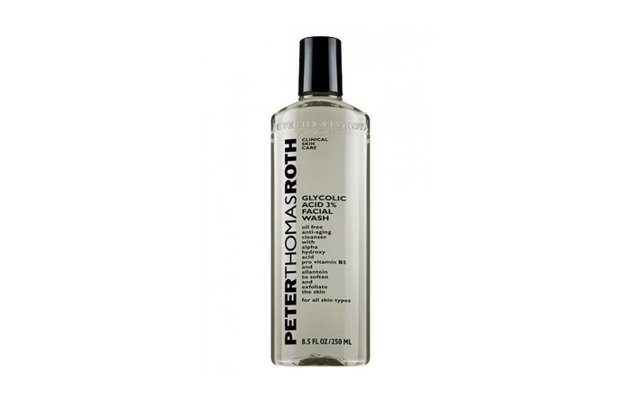 "Sweat reeks havoc on the skin. So cleanse yours right after you finish your last set with <a href=""http://www.peterthomasroth.com/p-52-glycolic-acid-3-facial-wash.aspx"" target=""_blank"">Peter Thomas Roth Glycolic Acid 3% Facial Wash</a>."