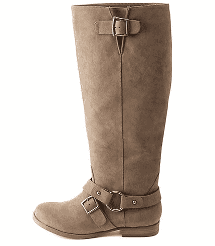"<font size=""2""><span style=""font-size:10pt;"">So rugged, yet so cool…these would be sublime with jeans. Charlotte Russe Faux Nubuck Boots ($20; amiclubwear.com)</span></font>"
