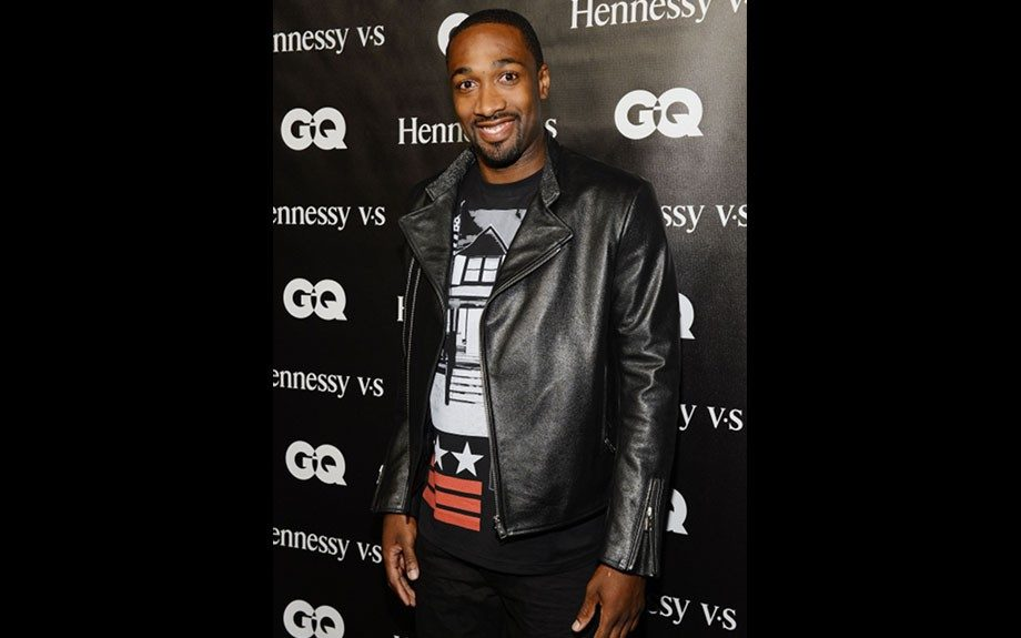 Gilbert Arenas attended Chris Paul's event in a zipper-sleeve leather jacket, a Los Angeles Dodgers fitted cap and a Givenchy tee.