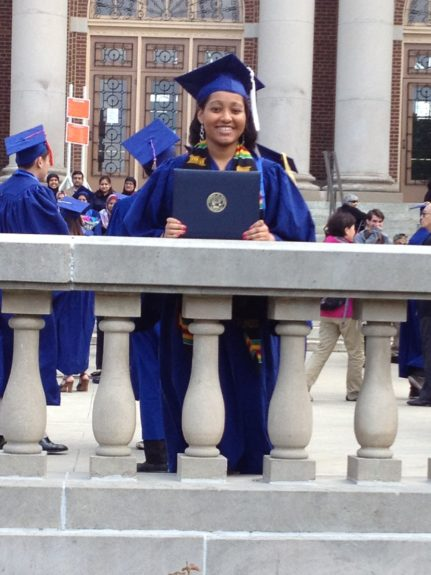 """<strong>Jackie's graduation</strong> from the University of Illinois. """"College graduation… that one really gets to you as parent."""""""