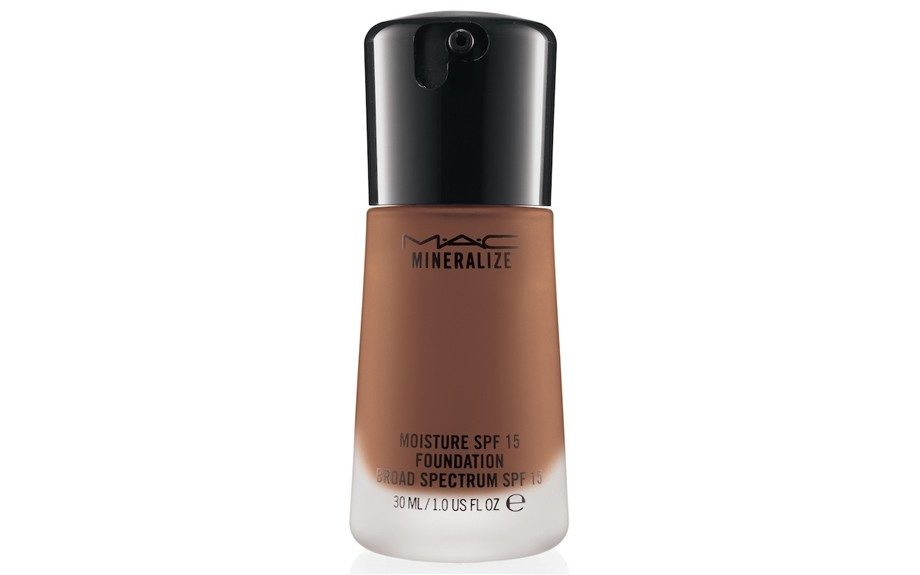 "<strong>MAC Mineralize SPF 15 Foundation</strong> ($34; <a href=""http://www.maccosmetics.com/product/shaded/158/24923/Products/Face/Foundation/Mineralize-Moisture-SPF15-Foundation/index.tmpl"" target=""_blank"">maccosmetics.com</a>)"
