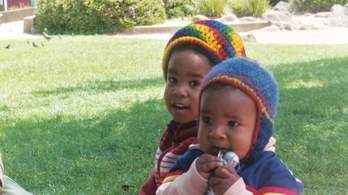 The little Benjamin brothers, Malachi and Khalil, rockin' roots swag.
