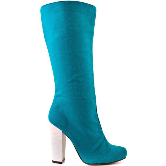 "<font size=""2""><span style=""font-size:10pt;"">These eye-catch teal boots will make quite the statement. Michael Antonio Boots ($71.99; macys.com)</span></font>"