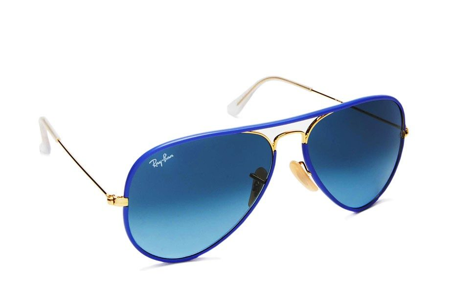 """Ray Ban Reinvented Aviator in Blue $180 <a href=""""http://www.henribendel.com/RAY-BAN-REINVENTED-AVIATOR/26624613450193,default,pd.html?start=8&cgid=shop_him"""" target=""""_blank"""">henribendel.com</a>"""