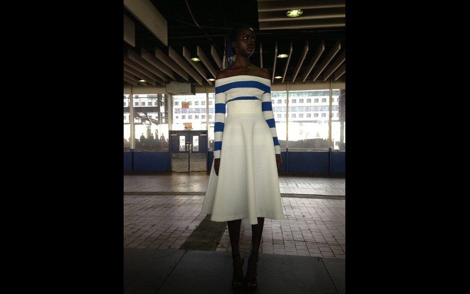 We love this sailor inspired look from Catherine Malandrino.