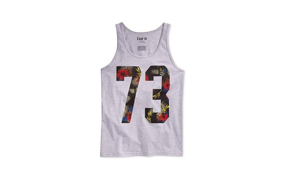 "Floral Number Tank - <a href=""http://www1.macys.com/shop/product/bar-iii-floral-number-tank?ID=1490448&CategoryID=30423&LinkType=#fn=SLEEVE_LENGTH%3DTank%26sp%3D4%26spc%3D334%26ruleId%3D3%26slotId%3D131"" target=""_blank"">Bar III</a> 19.50"