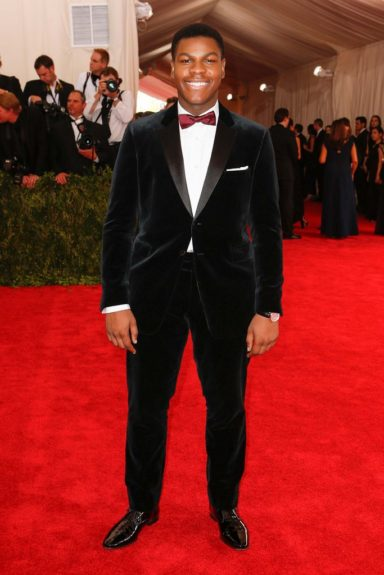 John Boyega at the 2015 Met Costume Institute Gala
