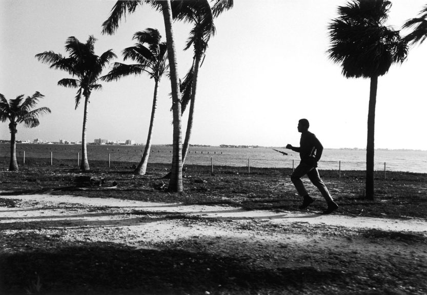 <p> Muhammad Ali jogs along an inland water coast in Miami, FL in preparation for his fight with Joe Frazier in 1971 (Moneta Sleet, Jr./Ebony Collection)</p>