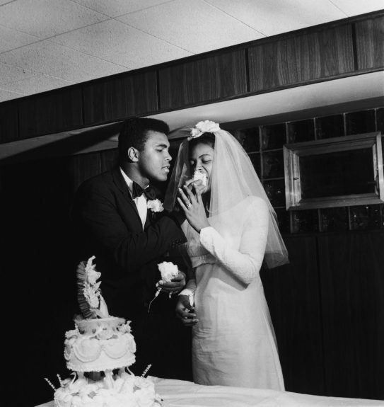 <p> Muhammad Ali at his wedding to Belinda Boyd on August 17, 1967 at Ali's Chicago, IL home (Isaac Sutton/Ebony Collection)</p>