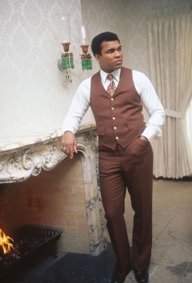<p> Heavyweight champion Muhammad Ali looks dignified during a photo shoot in his Chicago, IL home in December of 1976. (Ozier Muhammad/Ebony Collection)</p>