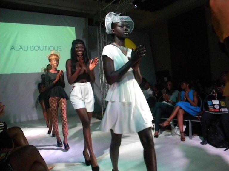 Nigerian designer Oroma Cookey-Gam flew in from Lagos to show her Alali Boutique line