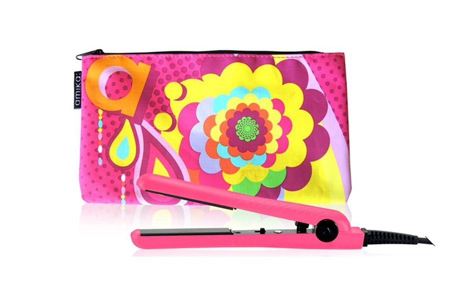 HAIR - Travel in style with one of the hottest hair tools on the market! Amika Hot Pink Mini Ceramic Styler, sephora.com, $25