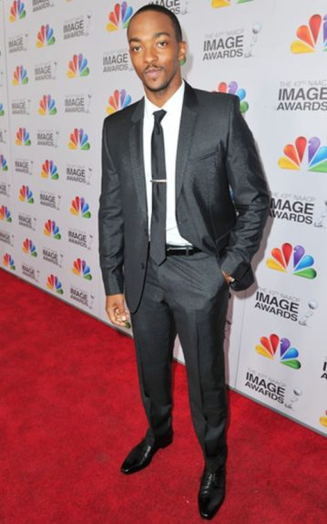 Anthony Mackie at the 43rd NAACP Image Awards.