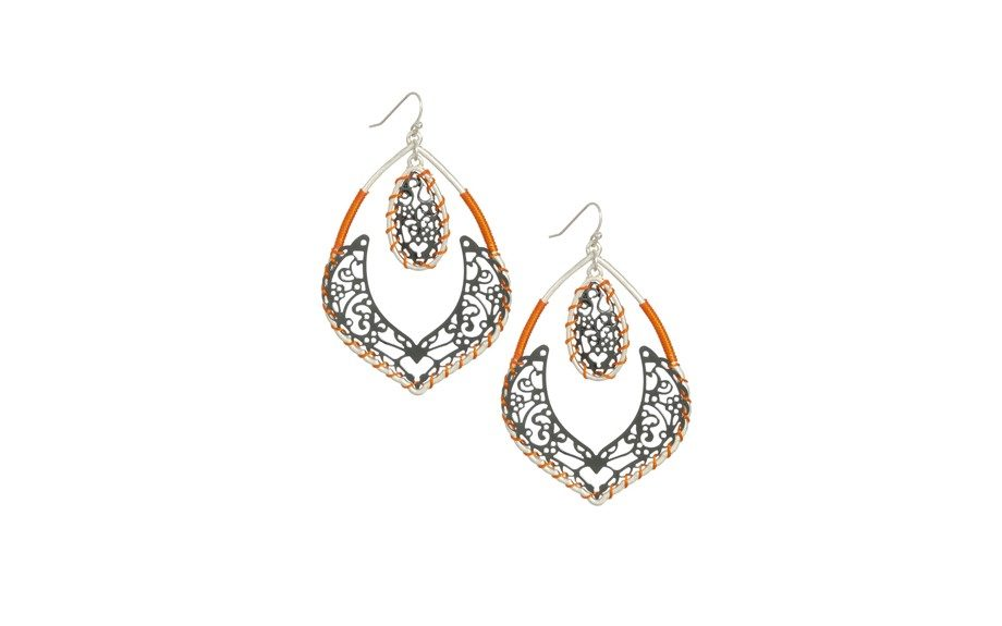 Arden B Pop Color Filigree Earrings, $19 at ardenb.com