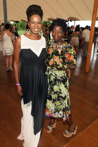 Tangie Murray of Rush Philanthropic Arts Foundation with Thelma Golden of The Studio Museum of Harlem