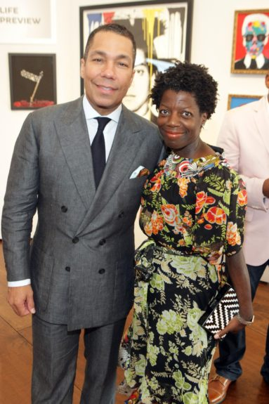 Valentino Carlotti(Head of Securities Division Institutional Client Group) and ThelmaGolden of TheStudio Museum of Harlem