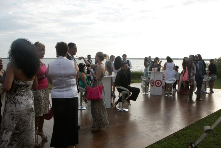 Attendees in the Hamptons at Art for Life
