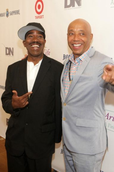 Kurtis Blow with old friend and onetime manager Russell Simmons