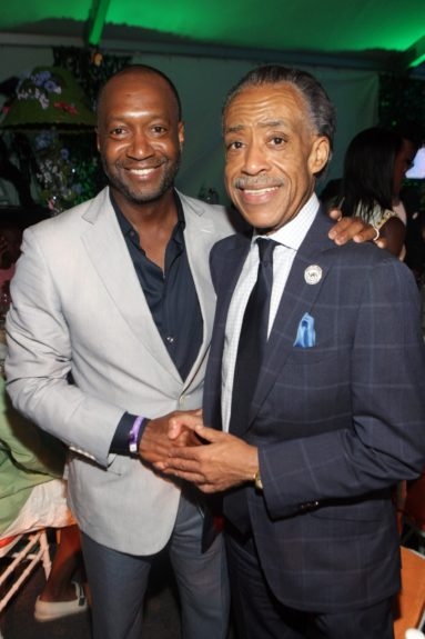 Jeff Friday, CEO & Founder, The Film Life and Rev. Al Sharpton (r.)