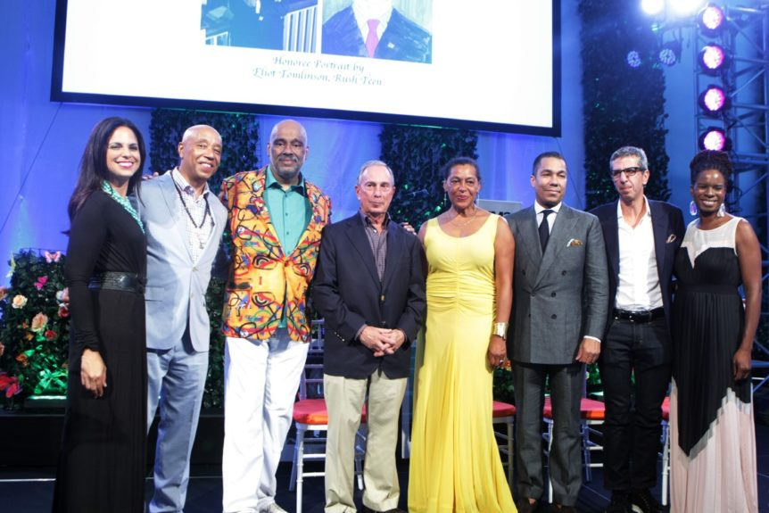 Television Personality Soledad O'Brien, Russell Simmons, Danny Simmons, Former New York City Mayor Michael Bloomberg (honoree), Carrie Mae Weems, (honoree) Valentino Carlotti (honoree), Jason Flom(honoree) and Tangie Murray