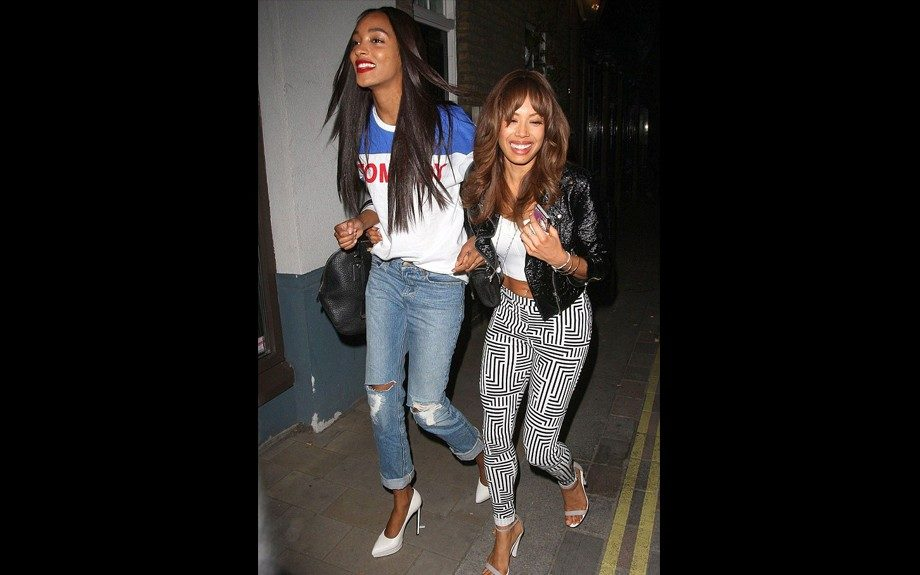 """<span style=""""font-size: 12px;"""">Girls just want to have fun, and </span>Jourdan<span style=""""font-size: 12px;""""> Dunn was spotted at the Crazy Bear Club in London in a </span>Filles<span style=""""font-size: 12px;"""">à Papa Tomboy Cotton Sweater, Burberry Medium Leather Bowling Bag,<"""