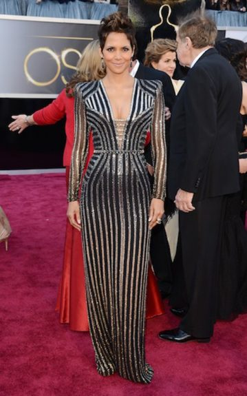 Look of the Week: Halle Berry is still sipping on her secret stash from the fountain of youth and looks absolutely incredible in her custom Versace gown. Photo Credit: WENN