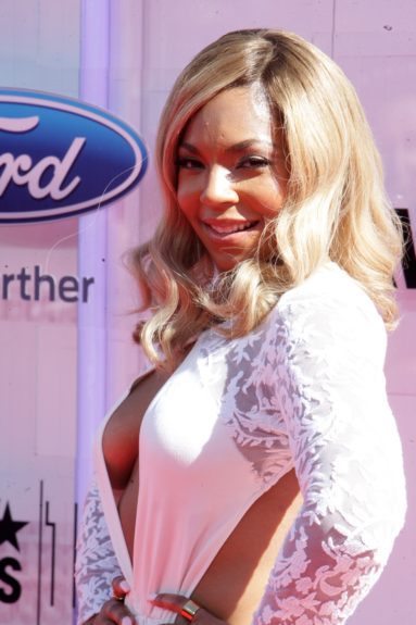 Ashanti makes an appearance at the 2014 BET Awards. Photo: Terrence C. Jennings