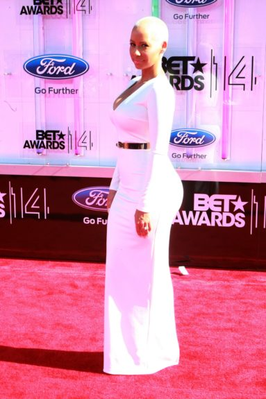 Amber Rose makes an appearance at the 2014 BET Awards. Photo: Terrence C. Jennings